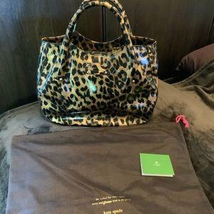 Authentic Kate Spade Leopard Patent Handbag